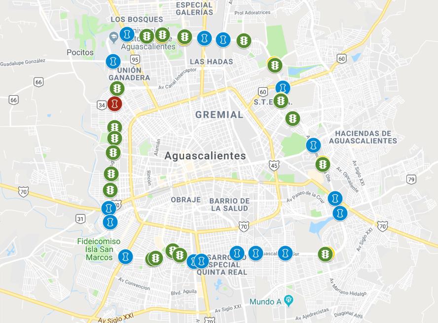 mapa semáforos segundo anillo