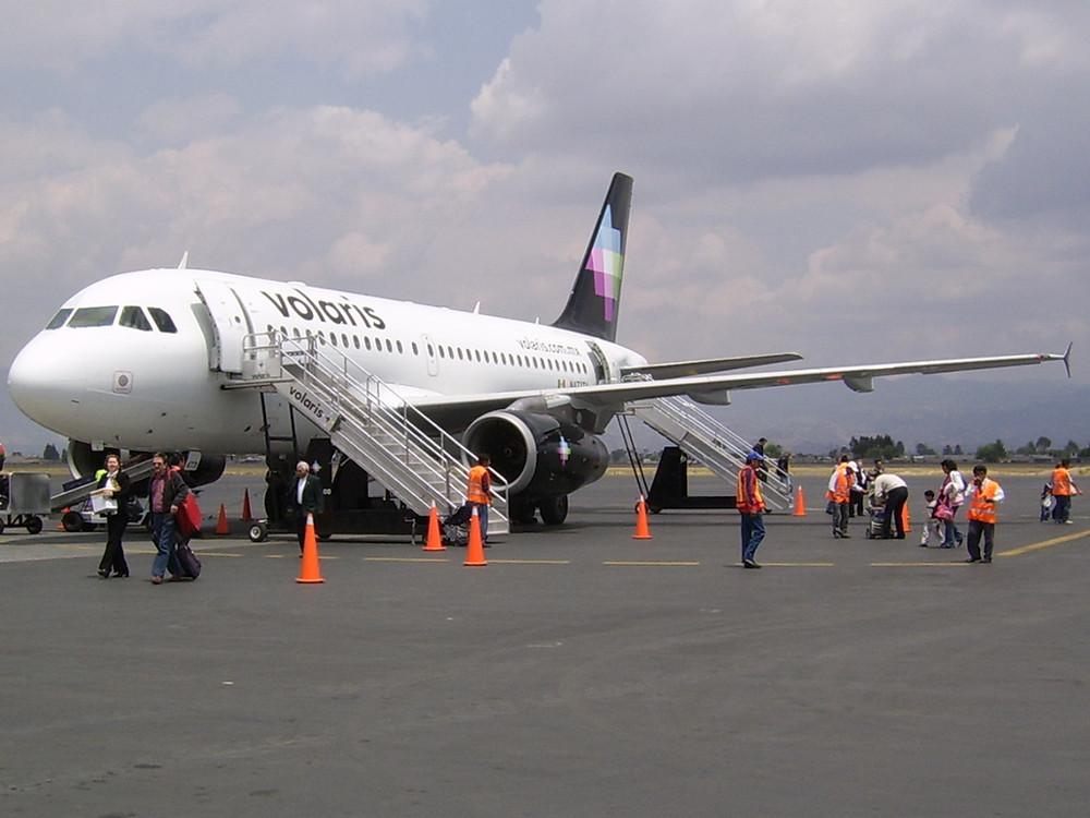 Avión A320 en Aeropuerto de Aguascalientes