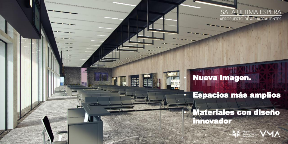 interior remodelación aeropuerto aguascalientes