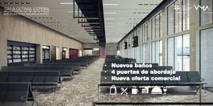 Render del interior de la nueva SUE del aeropuerto Aguascalientes