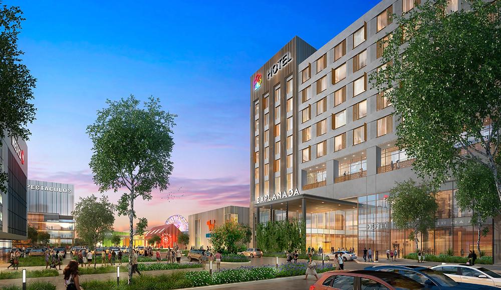 Proyecto de centro comercial explanada en Aguascalientes