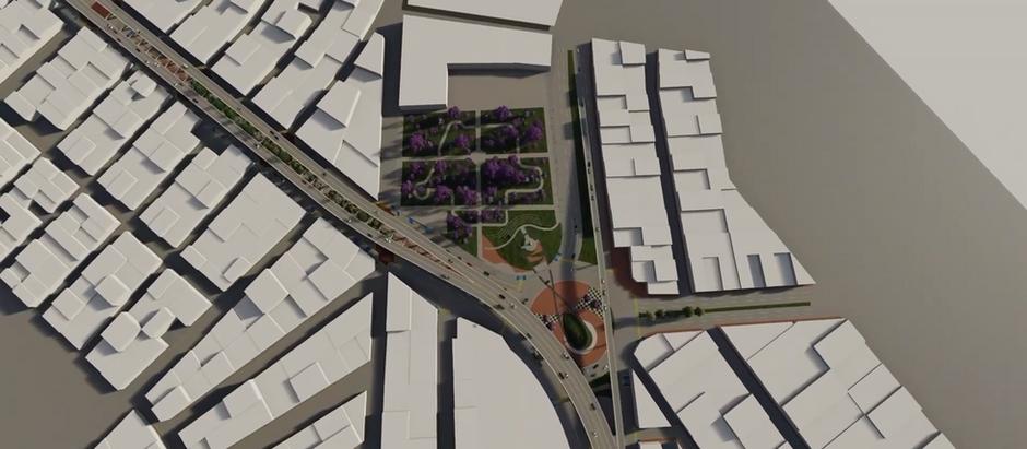 Modificación del proyecto del viaducto del parque del papa