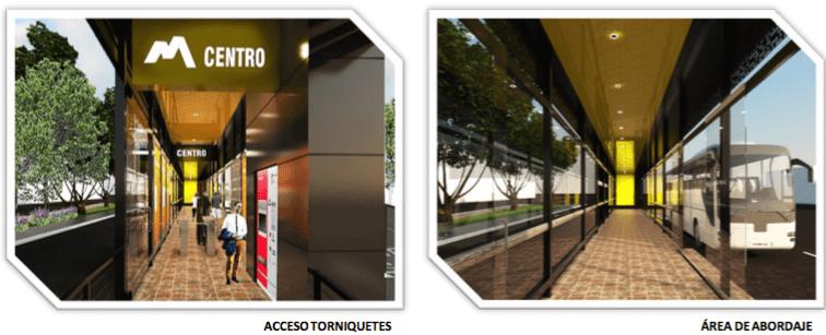 Renders de los interiores de las estaciones del SITMA