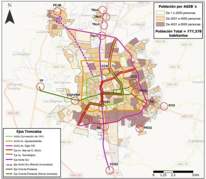 Mapa del proyecto SITMA Aguascalientes