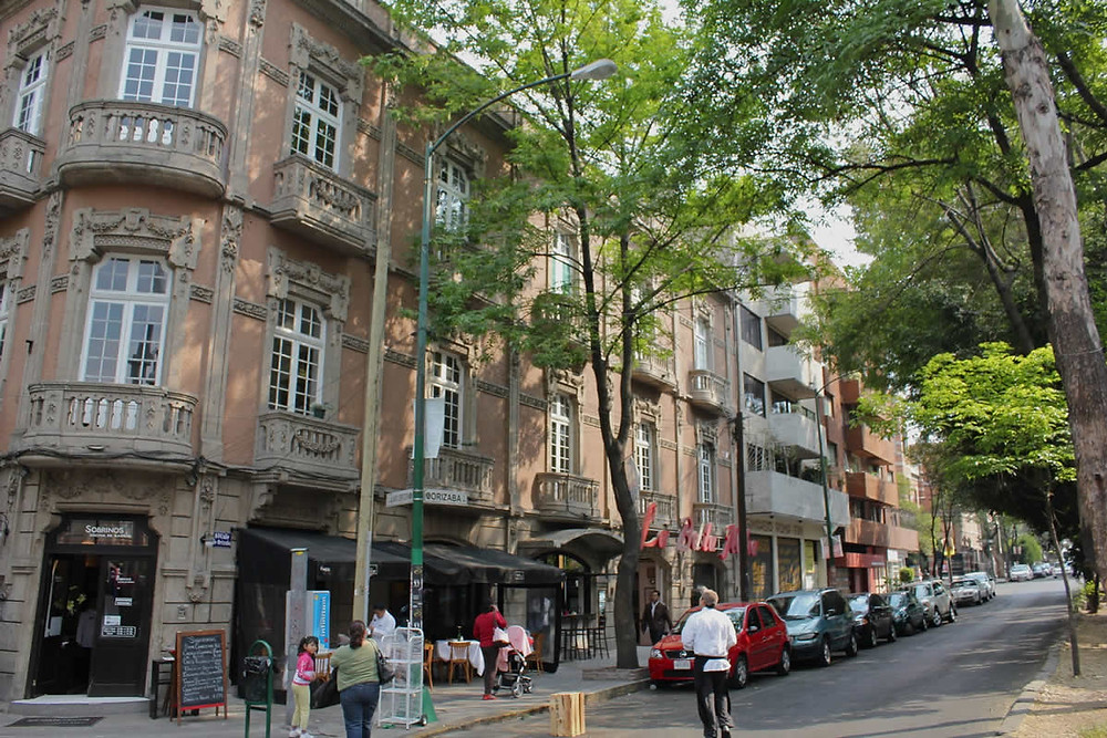 Colonia Roma en el municipio de Cuauhtémoc con una densidad comparable a la que se podría lograr en Aguascalientes