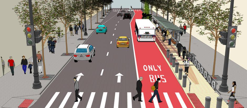 Carriles confinados para Transporte Público: Mayor velocidad y capacidad