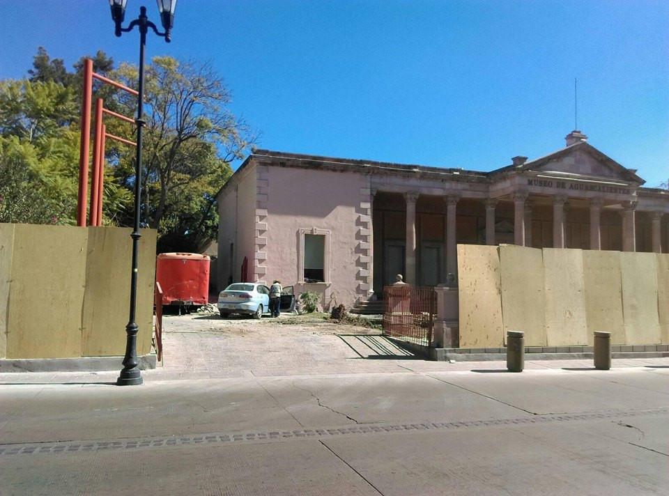 obras museo de Aguascalientes construcción