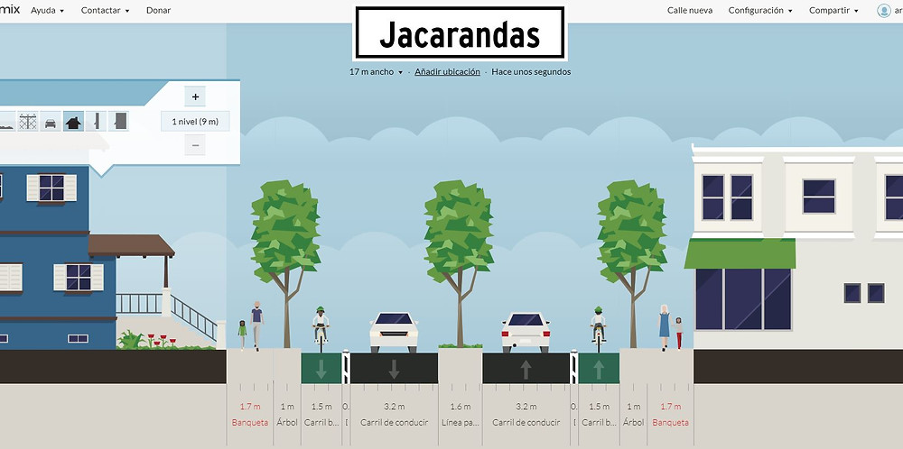 ciclovías calle jacarandas aguascalientes