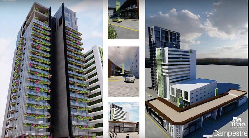 Proyecto arquitectonico de los edificios de mac Aguascalientes Norte