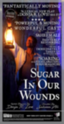Sheldon Best Sugar in Our Wounds Manhattan Theatre Club MTC Saheem Ali Donja R. Love New York City Center Stage II