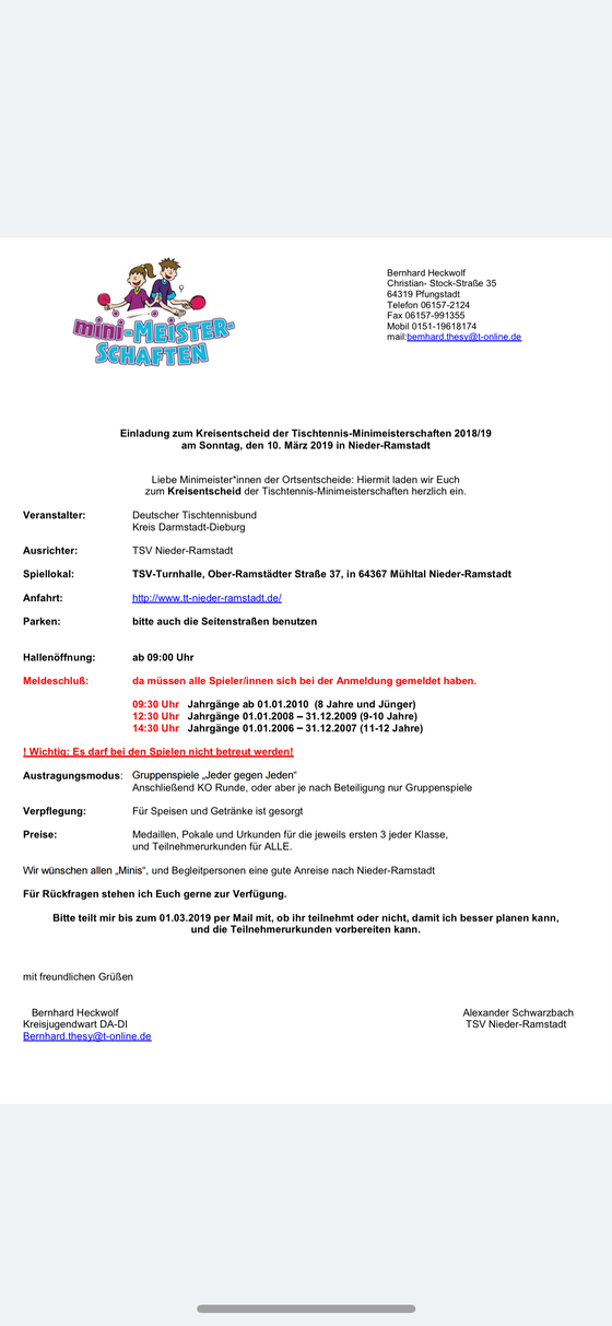 Sonntag ab 09:30 Uhr ist wieder Aktion in der TSV Halle