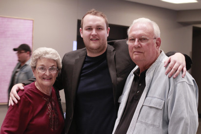 Aaron Parpart with his Grandparents