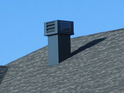 Roof top elevator penthouse vent
