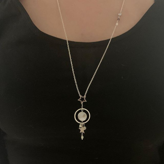 I made another celestial-themed necklace