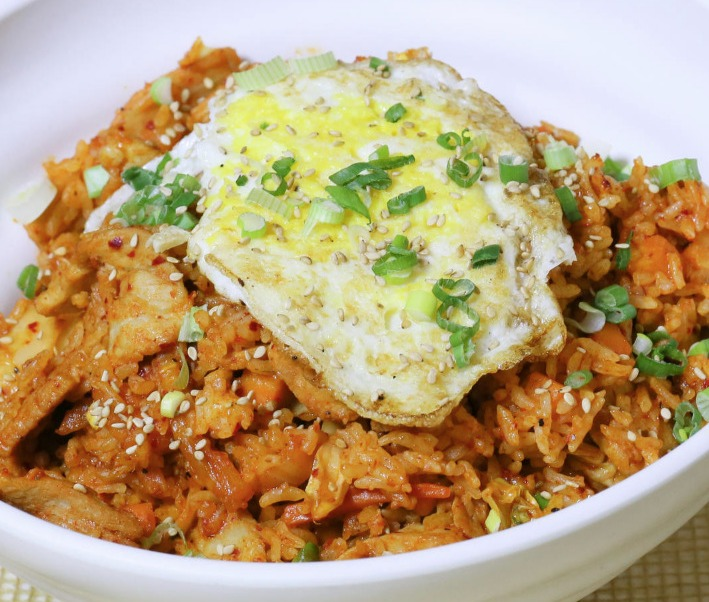 Kimchi Fried Rice - Pork with Fried Egg (Korean Entree)