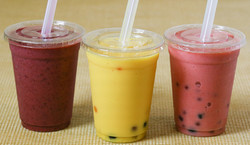 Mixed Berry Smoothie & Mango and Strawberry Bubble Teas (Drinks)