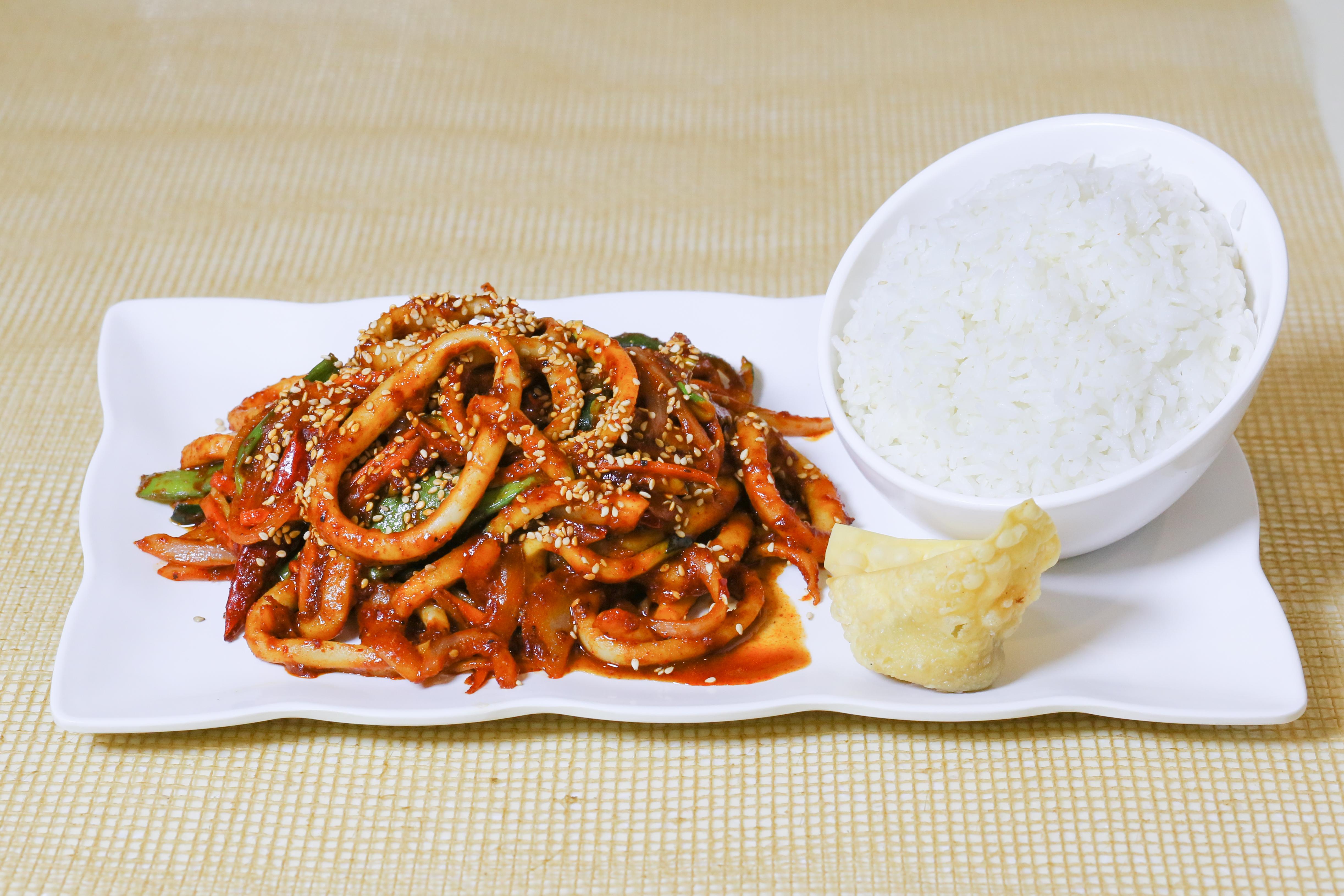 Spicy Squid & Vegetables