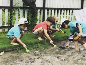 Our FridayFun - mud pond activity. _Happ