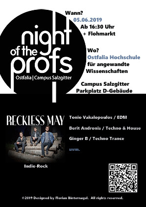 Night Of The Profs - Ostfalia Hochschule Salzgitter