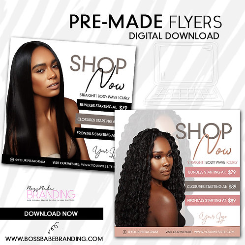 Pre-Made Beauty Flyer Set