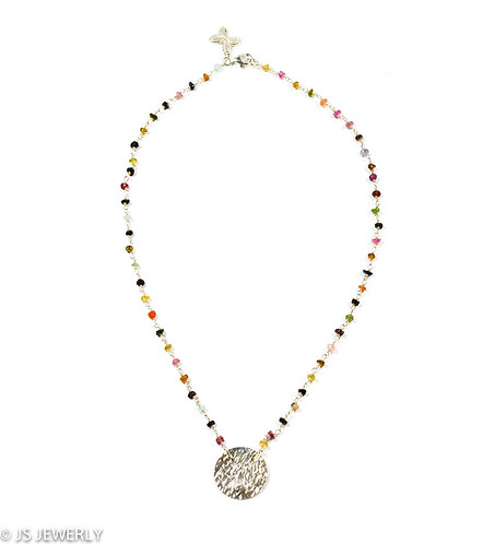 Tourmaline & Steling Silver .925 Necklace