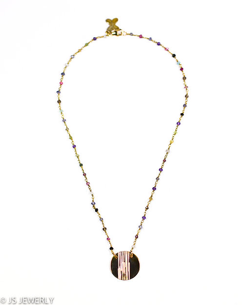 Tourmaline & Gold Filled Necklace