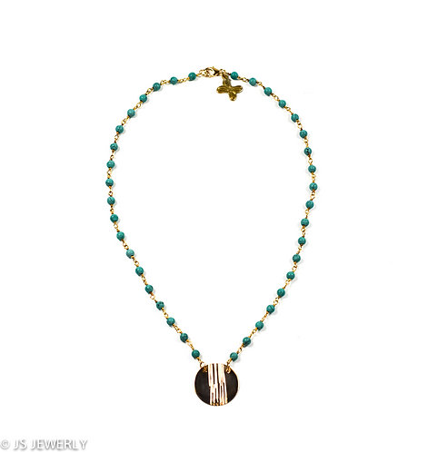 Turquoise & Gold Filled Necklace