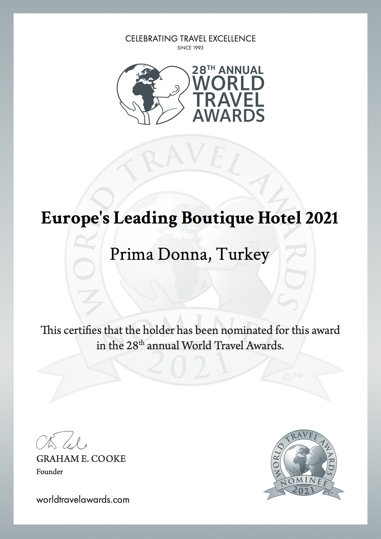 Europes leading boutique hotel 2021