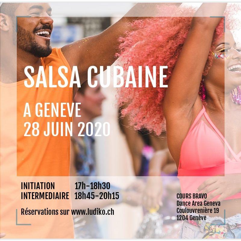 Flyer danse cubaine 28 juin 2020