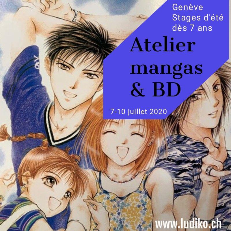 Flyer Atelier mangas 7-10 juillet 2020