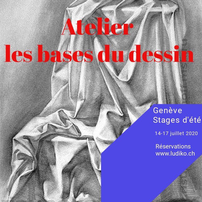 Flyer Atelier bases du dessin juillet 20