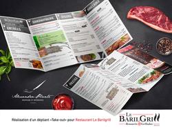 Dépliant menu principal Restaurant Barilgrill