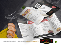Dépliant menu Qaisar's version 2020