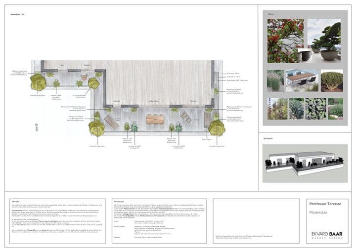 Terrassengestaltung Köln, Gartenplan, Gartenenwurf, Masterplan