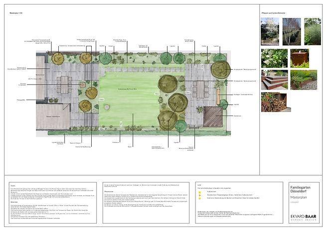 Gartenplan / Gartenentwurf / Familiengarten Düsseldorf / Gartendesign