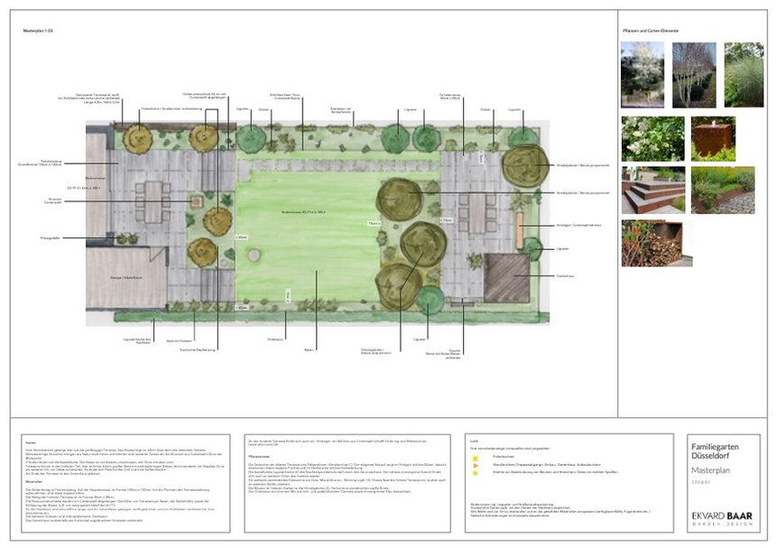 Gartenplan, Gartendesign, Gartenentwurf, Düsseldorf, Masterplan