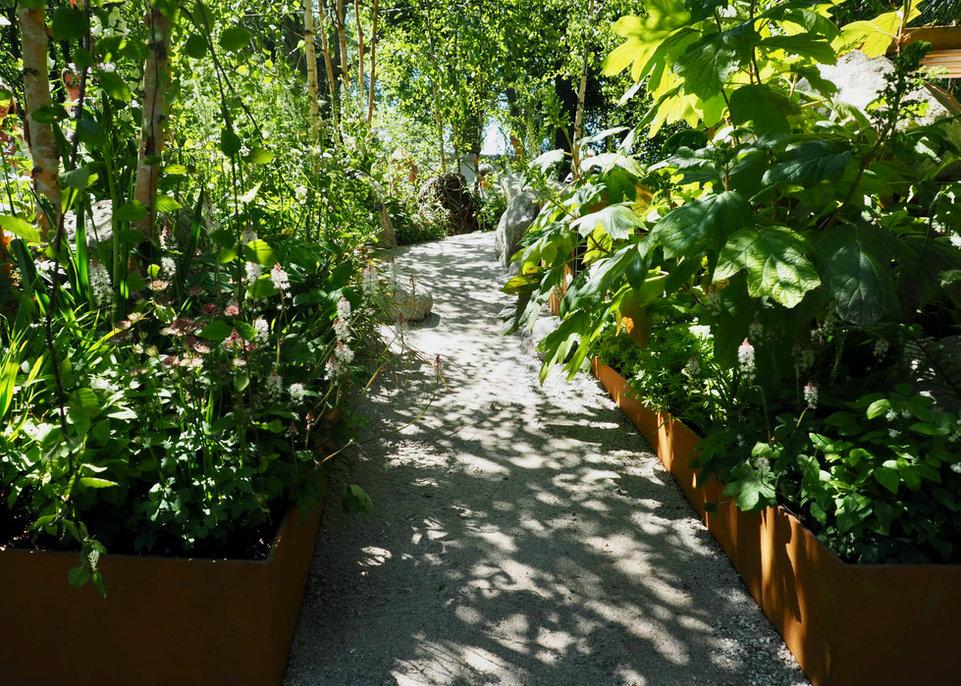 Beeteinfassung aus Stahl, Gartengestaltung, Gartendesign