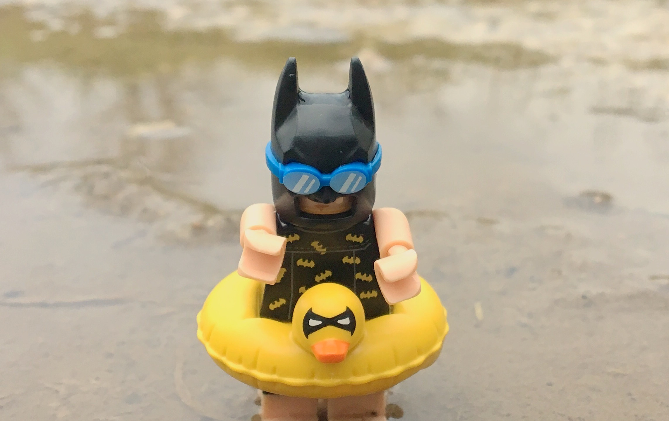 Batman having a swim
