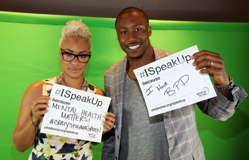 Brandon Marshall (right): American football player diagnosed with BPD