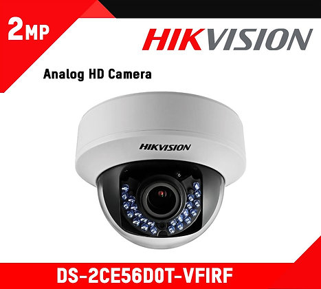 Camera Hikvision 2Mp VF Dome (DS-2CE56D0T-VFIRE)