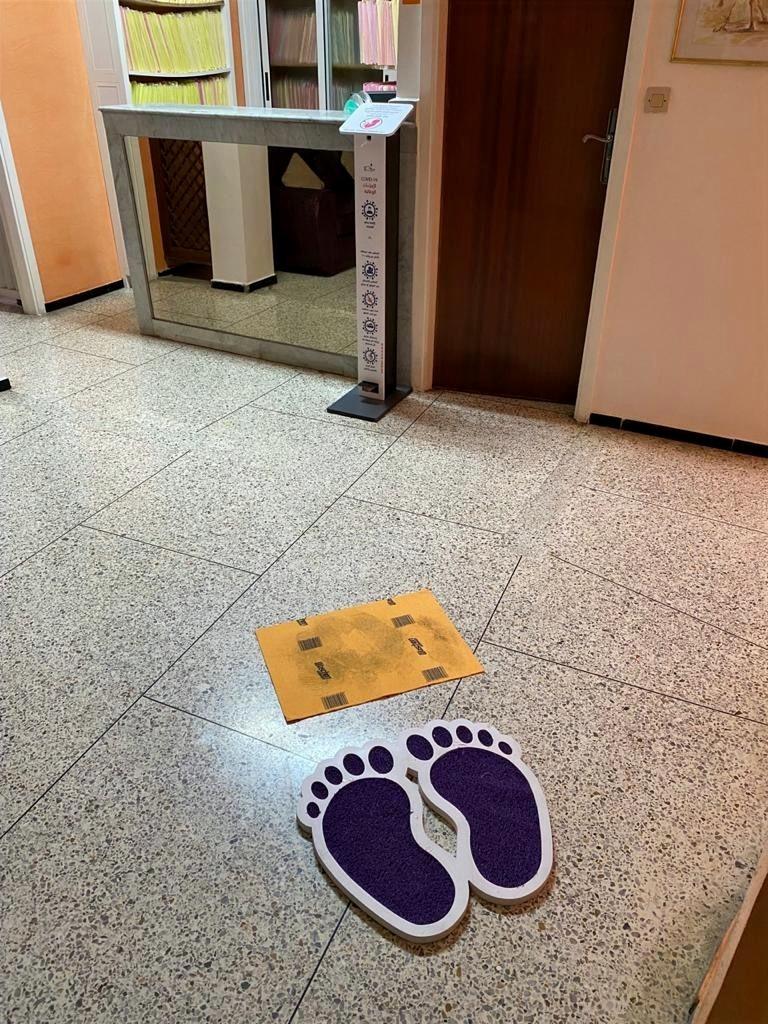 Gel et tapis desinfectants