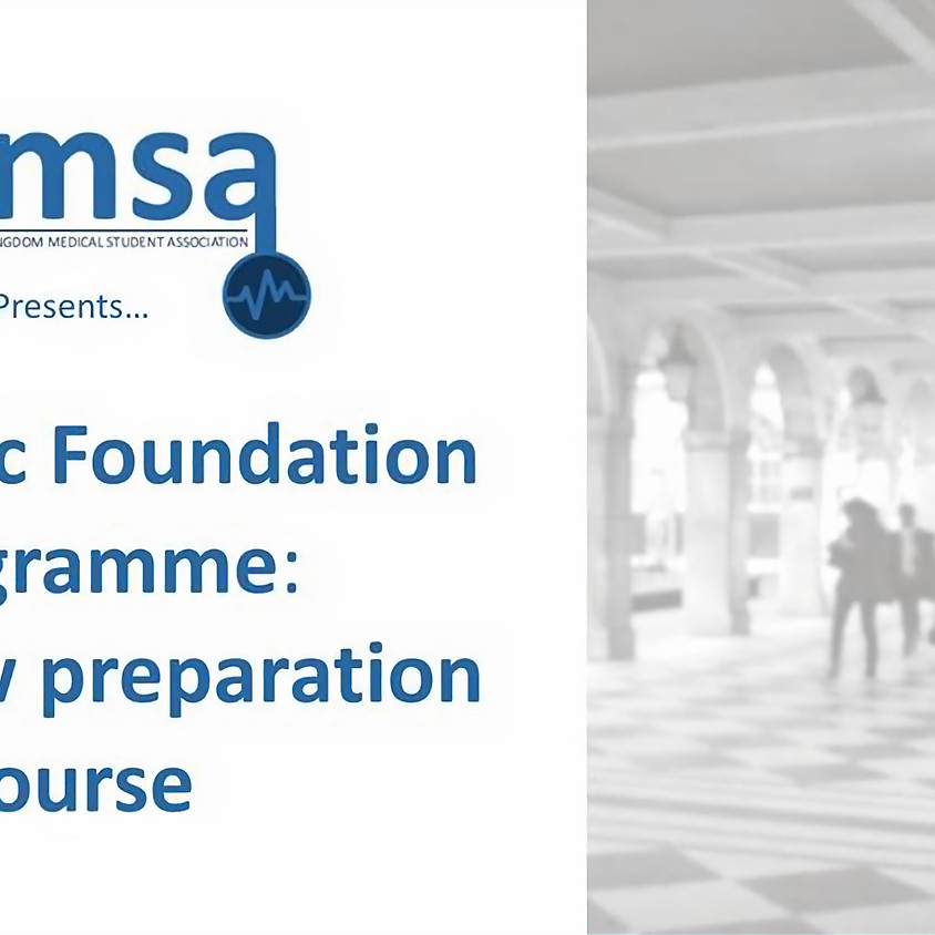 National Academic Foundation Programme Interview Course