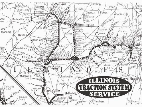 CCHM Postcards - Illinois Traction Map