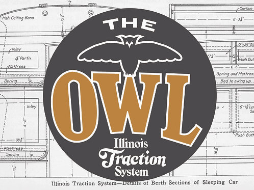 CCHM Postcards - Illinois Traction Owl Cars
