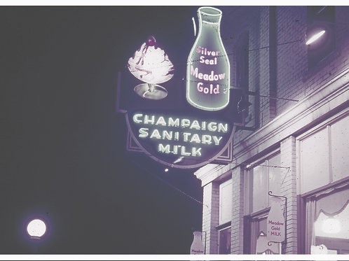 CCHM Postcard - Local Business Series - Champaign Sanitary Milk