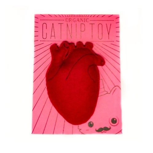 Anatomical Heart Catnip Cat Toy
