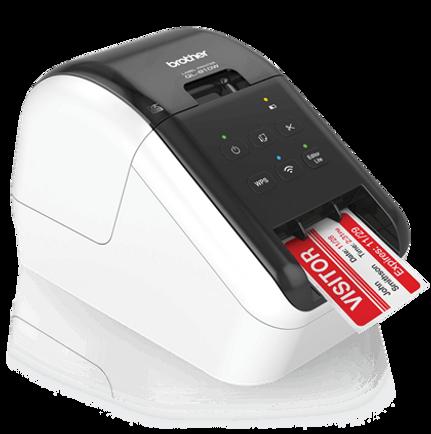 Impresora de código de Barras & etiquetas autoadhesivas Brother QL810 Wireless Inhalámbrica - Ideal para pequeños negocios de alimentación, repuestos automotrices, educación, abastos, farmacia y muchas otras aplicaciones.