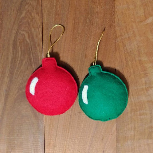 Christmas Ornament Cat Toy Set