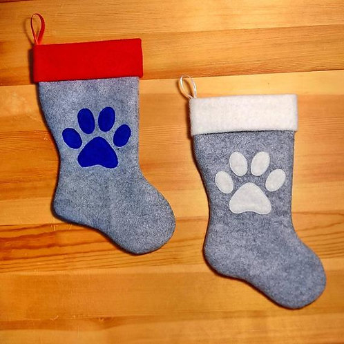 Single Paw Print Pet Stocking