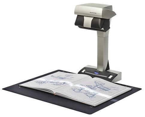 Escáner para libros empastados Fujitsu SV600. Ideal para notarías, centros médicos, univesidades, tesis y catálogos en formato A3 y A4.